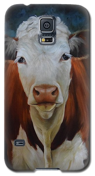 Portrait Of Sally The Cow Galaxy S5 Case by Cheri Wollenberg