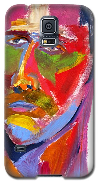 Galaxy S5 Case featuring the painting Portrait Prez by Shungaboy X