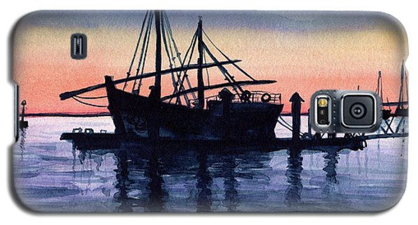 Galaxy S5 Case featuring the painting Portuguese Fishing Boat by Dora Hathazi Mendes