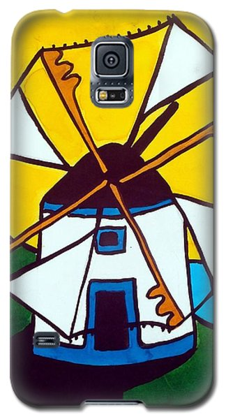 Portuguese Singing Windmill By Dora Hathazi Mendes Galaxy S5 Case