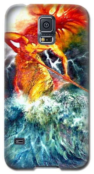 Galaxy S5 Case featuring the painting Poseidon by Henryk Gorecki