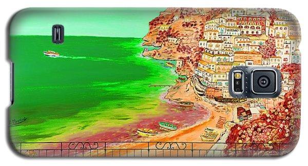Galaxy S5 Case featuring the painting Positano Bay by Loredana Messina