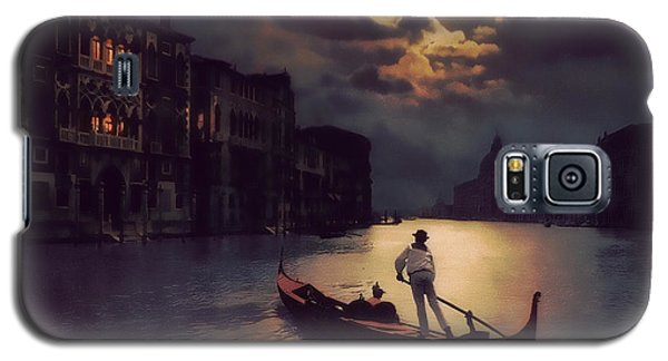 Galaxy S5 Case featuring the painting Postcards From Venice - The Red Gondola by Douglas MooreZart