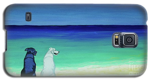 Lab Potcake Dogs On The Beach Galaxy S5 Case