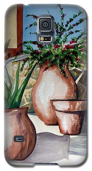 Pots And Bougainvillea Galaxy S5 Case