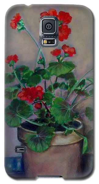 Potted Geranium Galaxy S5 Case by Irena Mohr