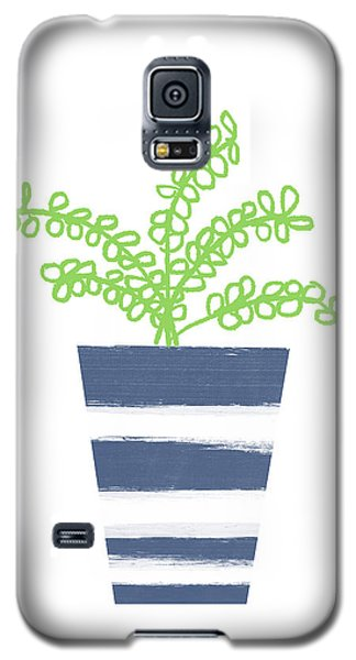 Galaxy S5 Case featuring the mixed media Potted Plant 1- Art By Linda Woods by Linda Woods