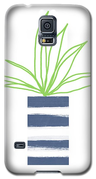 Galaxy S5 Case featuring the mixed media Potted Plant 2- Art By Linda Woods by Linda Woods