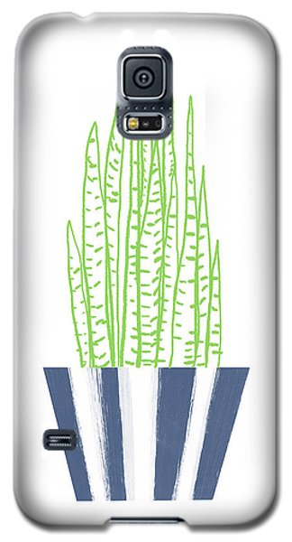 Galaxy S5 Case featuring the mixed media Potted Succulent 3- Art By Linda Woods by Linda Woods