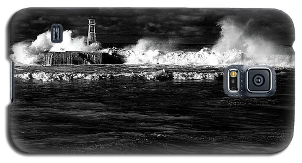 Galaxy S5 Case featuring the photograph Pounding The Breakwater by Nareeta Martin