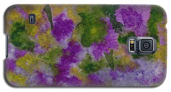 Galaxy S5 Case featuring the painting Pouring Flowers by Vicki  Housel
