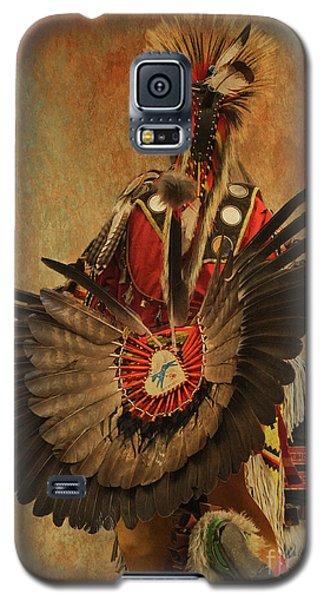 Galaxy S5 Case featuring the mixed media Pow Wow 2 by Jim  Hatch