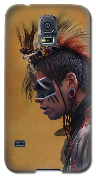 Galaxy S5 Case featuring the mixed media Pow Wow by Jim  Hatch