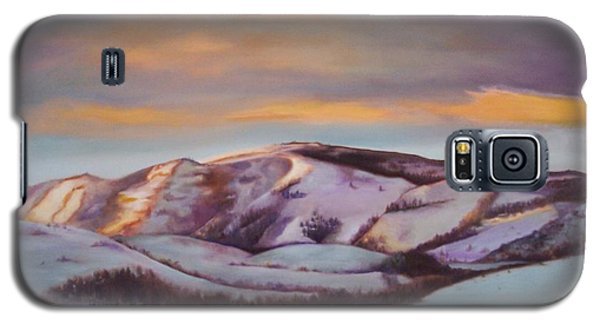Galaxy S5 Case featuring the painting Powder Mountain by Marlene Book