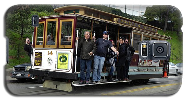 Galaxy S5 Case featuring the photograph Powell And Market Street Trolley by Steven Spak