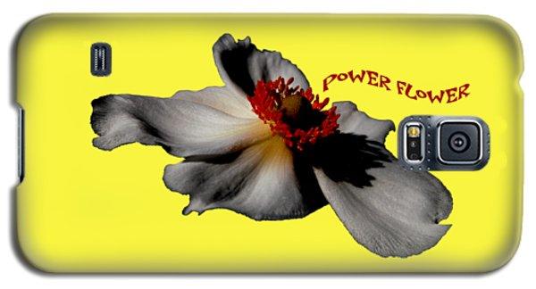 Galaxy S5 Case - Power Flower Anemone by Orphelia Aristal
