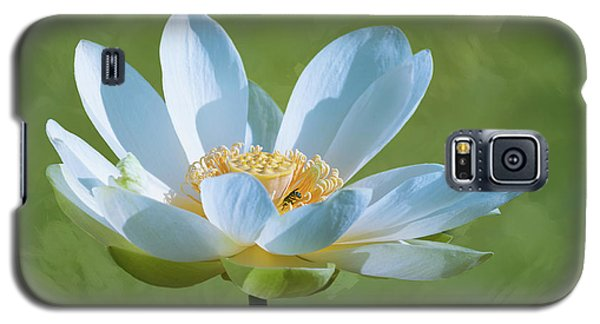 Galaxy S5 Case featuring the photograph Power Of A Lotus by Carolyn Dalessandro