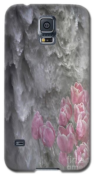 Galaxy S5 Case featuring the photograph Powerful And Gentle Waterfall Art  by Valerie Garner