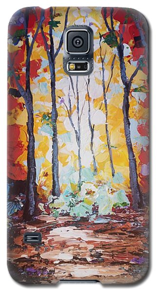 Powerful Yellow Galaxy S5 Case