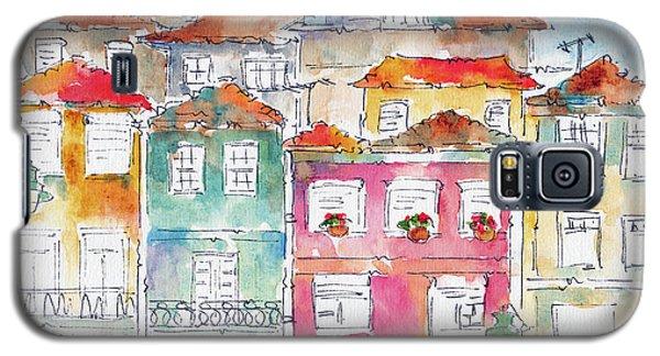 Galaxy S5 Case featuring the painting Praca Da Ribeira Porto by Pat Katz