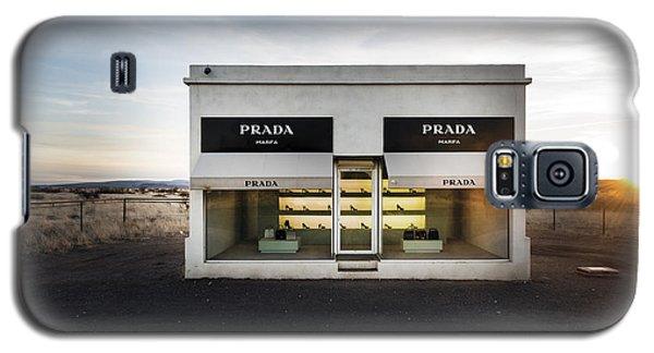 Prada Marfa Is A Permanently Installed Sculpture By Elmgreen And Dragset Near The Town Of Valentine Galaxy S5 Case
