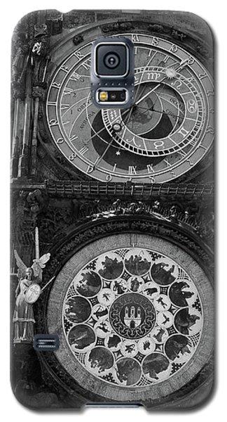 Prague Astronomical Clock In B/w Galaxy S5 Case