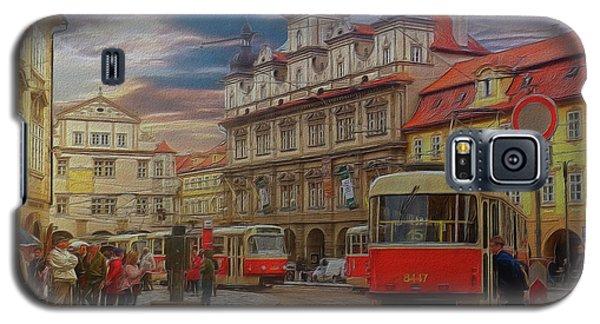 Prague, Old Town, Street Scene Galaxy S5 Case