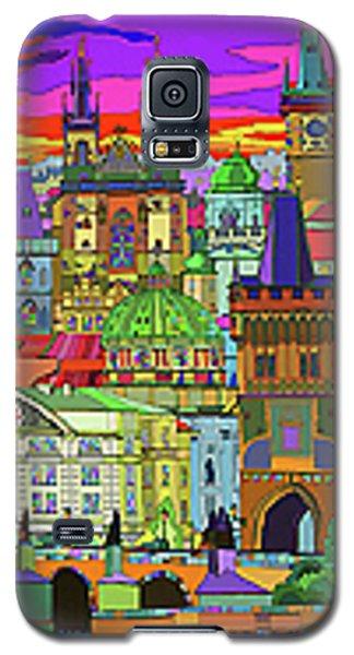 Town Galaxy S5 Case - Prague Panorama Old Town by Yuriy Shevchuk