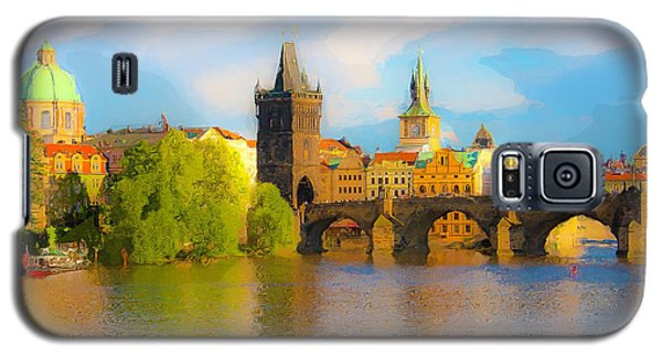 Galaxy S5 Case featuring the photograph Praha - Prague - Illusions by Tom Cameron