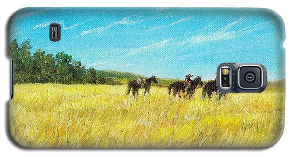 Galaxy S5 Case featuring the painting Prairie Journey by Kathleen McDermott