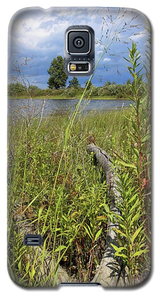 Galaxy S5 Case featuring the photograph Prairie Meets Wetland by Scott Kingery