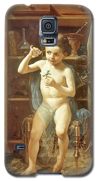 Galaxy S5 Case featuring the painting Pranks Of Love by Manuel Ocaranza