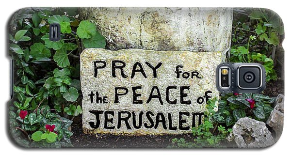 Pray For The Peace Of Jerusalem Galaxy S5 Case