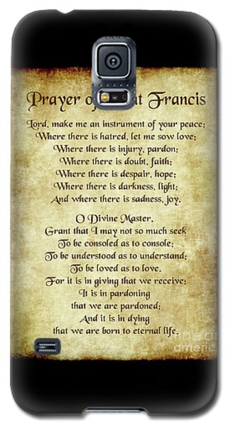 Prayer Of St Francis - Antique Parchment Galaxy S5 Case