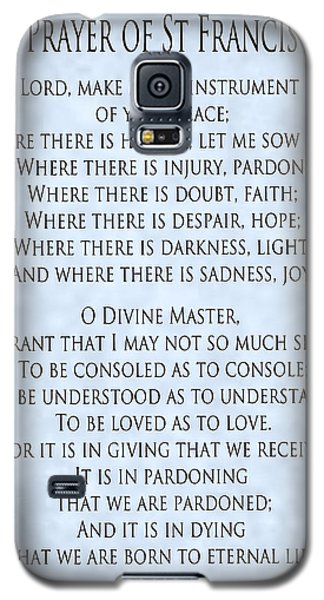 Prayer Of St Francis - Pope Francis Prayer - Blue-grey Parchment Galaxy S5 Case