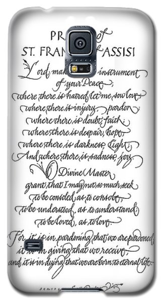 Prayer Of St. Francis Of Assisi Galaxy S5 Case