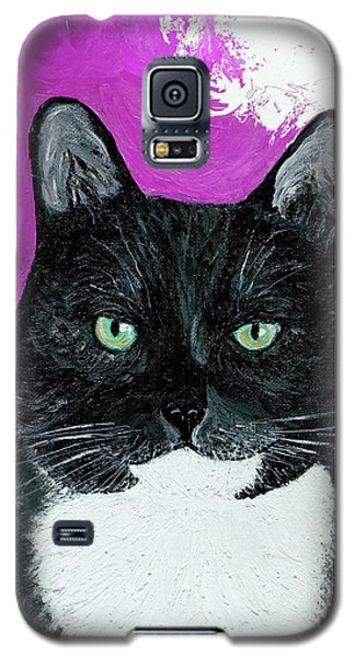 Galaxy S5 Case featuring the painting Precious The Kitty by Ania M Milo