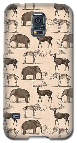 Prehistoric Animals Galaxy S5 Case by Antique Images