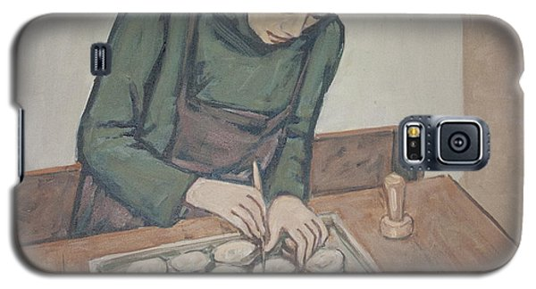 Galaxy S5 Case featuring the painting Preparing Communion Bread by Olimpia - Hinamatsuri Barbu