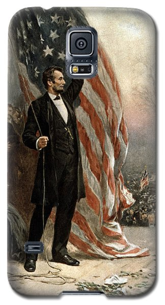 President Abraham Lincoln - American Flag Galaxy S5 Case