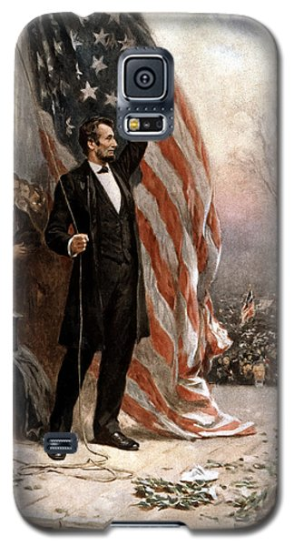 President Abraham Lincoln Giving A Speech Galaxy S5 Case by War Is Hell Store