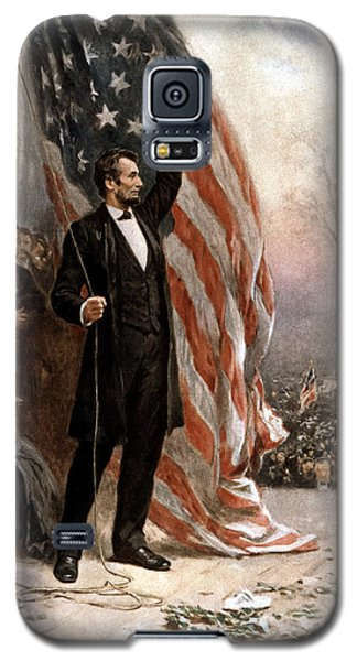 President Abraham Lincoln Giving A Speech Galaxy S5 Case