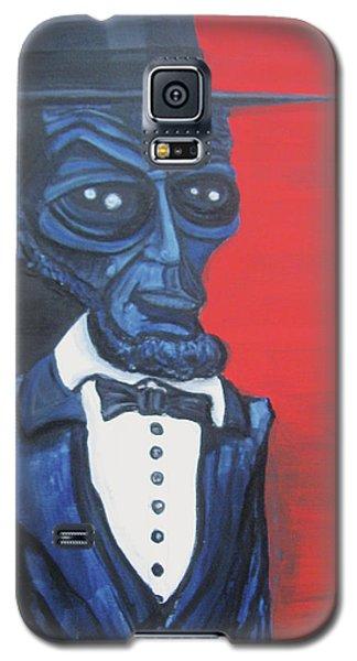 President Alienham Lincoln Galaxy S5 Case by Similar Alien