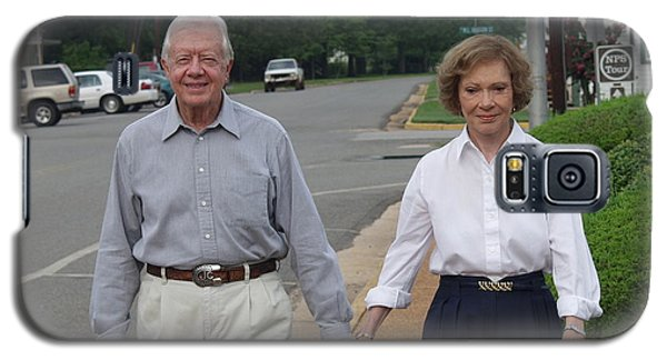 Galaxy S5 Case featuring the photograph President And Mrs. Jimmy Carter by Jerry Battle