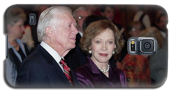 Galaxy S5 Case featuring the photograph President And Mrs. Jimmy Carter Nobel Celebration by Jerry Battle