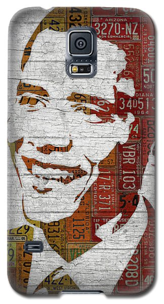 President Barack Obama Portrait United States License Plates Galaxy S5 Case by Design Turnpike