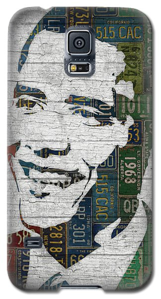 President Barack Obama Portrait United States License Plates Edition Two Galaxy S5 Case by Design Turnpike