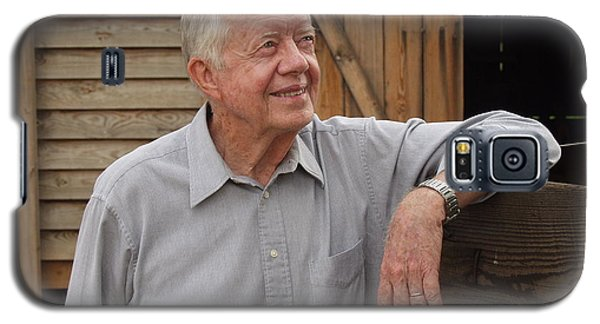 Galaxy S5 Case featuring the photograph President Carter At His Boyhood Farm by Jerry Battle
