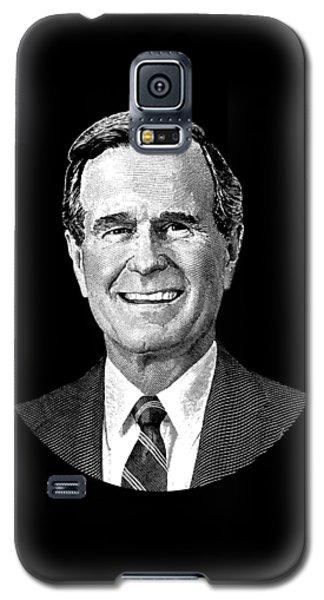 President George H. W. Bush Graphic Galaxy S5 Case by War Is Hell Store