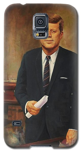 Galaxy S5 Case featuring the painting President John F. Kennedy by Noe Peralez